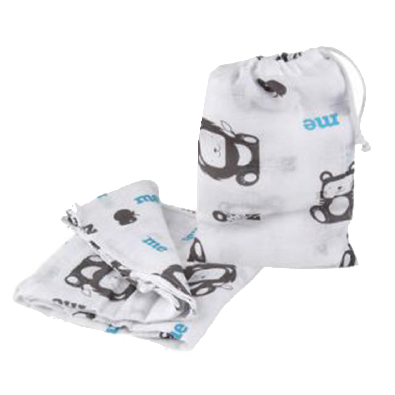 以色列 mezoome - 有機棉精品床寢-純棉紗布包巾-土耳其藍 (120 x 120 cm)