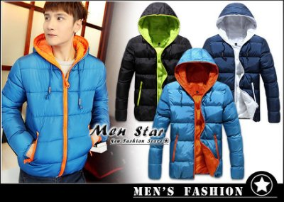 【Men Star】免運費 韓版拚色系鋪棉外套 羽絨外套 男 女 媲美 極度乾燥 superdry adidas a&f