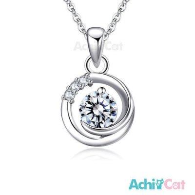 925純銀項鍊 AchiCat 滿月星空 擬真鑽 附純銀鍊 聖誕禮物 CS6036