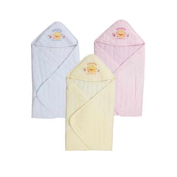 黃色小鴨春夏新生兒刺繡包巾 81631