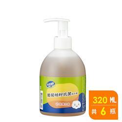 南僑水晶葡萄柚籽抗菌洗手液 320g X6瓶