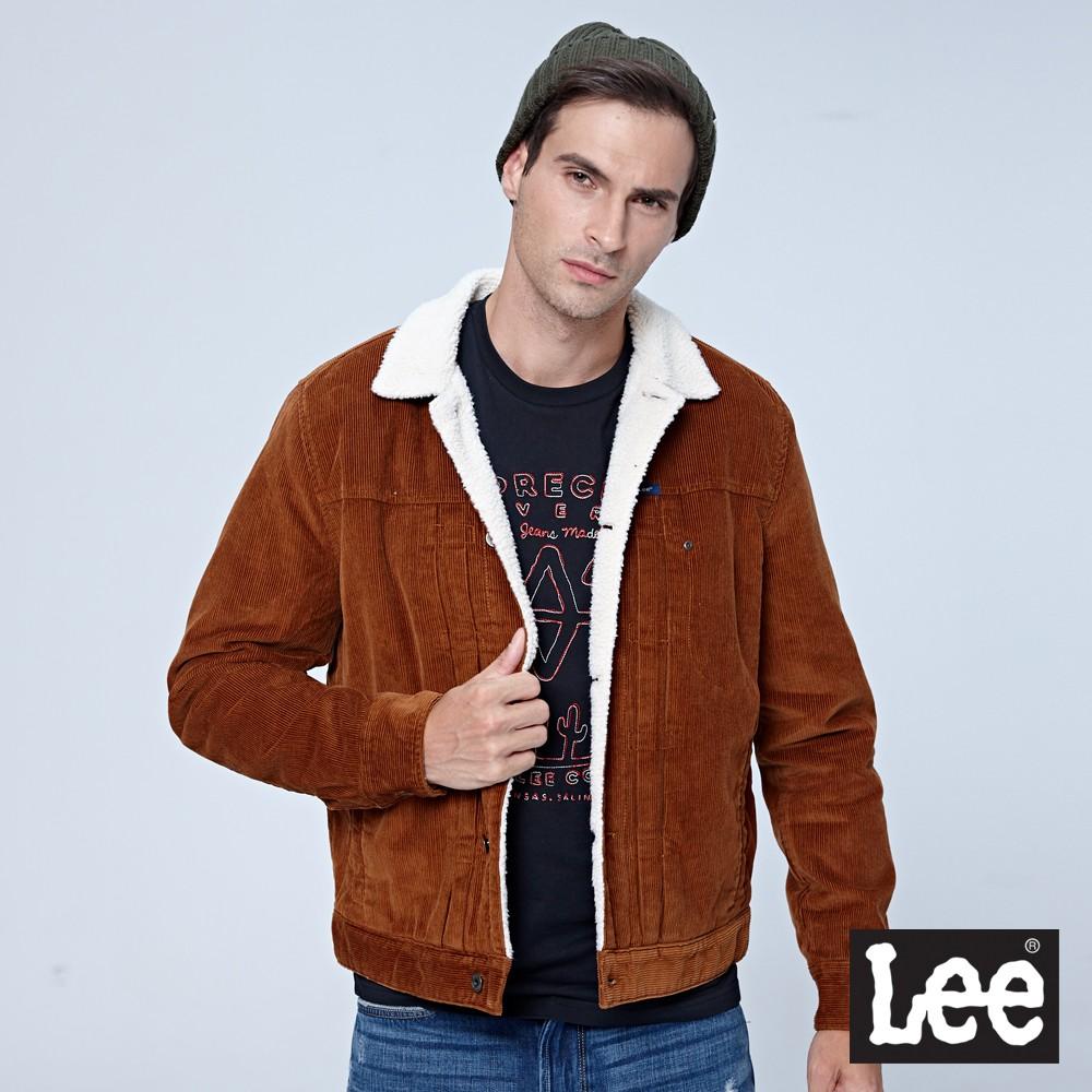 Lee 燈心絨騎士外套/101+-深棕色-男外套--FW17