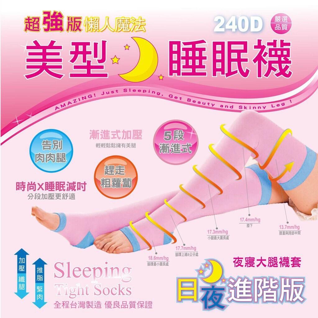 【現貨】米蘭絲襪 MILANE 夜寢大腿進階加強睡眠襪套 240D 懶人魔法 瘦身 雕塑 MIT台灣製造