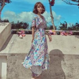 リゾート ワンピース ハワイ 40 代 リゾート ワンピース 沖縄リゾートワンピース 花柄 ワンピース 花柄のワンピース 花柄 ロングワンピー