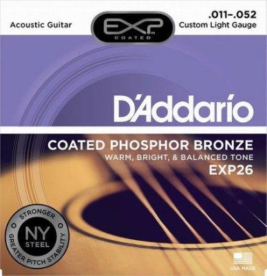☆ 唐尼樂器︵☆ Daddario EXP26 (011-052) 磷青銅演奏/錄音級民謠吉他弦