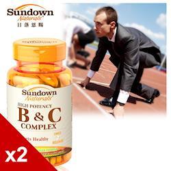 【美國Sundown日落恩賜】緩釋型超級B群+C錠(B12加強配方)x2瓶組(100錠/瓶)