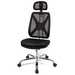 【aaronation】愛倫國度 - 紓壓機能 - 辦公/電腦網椅(DW-CH143無手有枕鐵腳PU60)