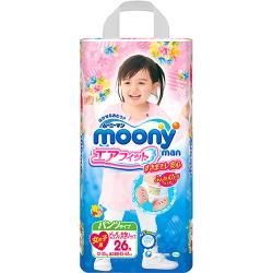MOONY 日本頂級超薄紙尿褲/褲型尿布 女(XXL)(26片x3包/箱)