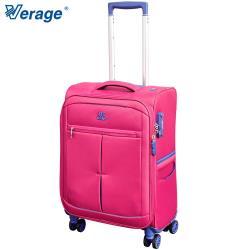 Verage 19吋 超輕量經典格紋環保旅行箱三代(紅)