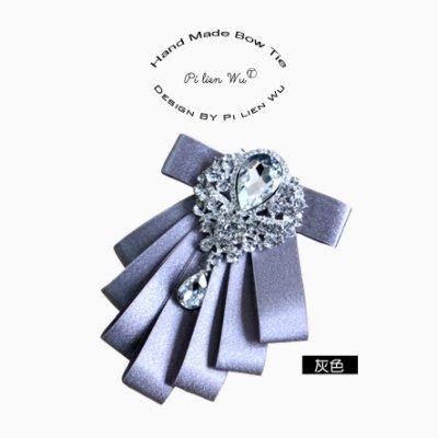 領結〝☆丁丁蜜桃☆〞典雅璀璨美鑽水滴鑽飾鑽石新郎領結西裝領帶結婚領花領結YS26,一款直購價399元