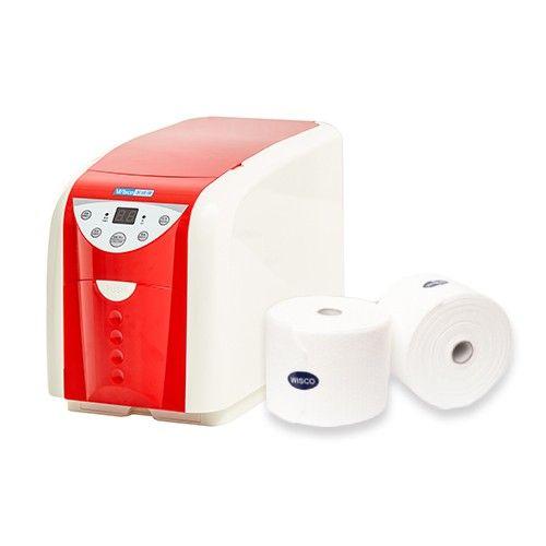 潔適康 WISCO - 精緻型冷熱柔巾機-寶石紅-加贈6卷乾濕兩用巾