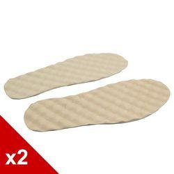 ○糊塗鞋匠○ 優質鞋材 C53 台灣製造 豆豆乳膠豚皮墊 (2雙/組)