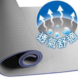 Yenzch 伸展瑜珈墊-TPE(時尚灰 厚6.5mm) RM-11104 (送背袋+極細運動毛巾)-台灣製