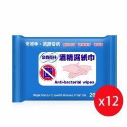 奈森克林 酒精濕紙巾20抽x12包