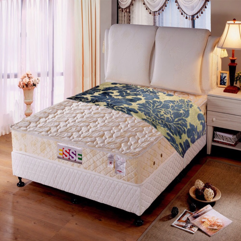 【ESSE 御璽名床】3D立體乳膠2.3硬式床墊(健康系列5x6.2尺-雙人)