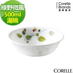 任-【美國康寧CORELLE】綠野微風500ml湯碗