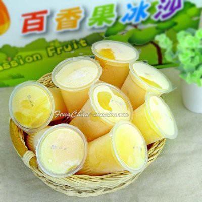百香果冰沙-濃郁的百香果香,冰凍後變成冰沙,酸酸甜甜的好滋味。