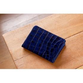 《LEO》二つ折りパスケース ブルー