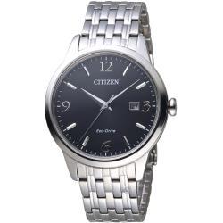 星辰 CITIZEN GENTS時尚簡約光動能腕錶 BM7300-50E
