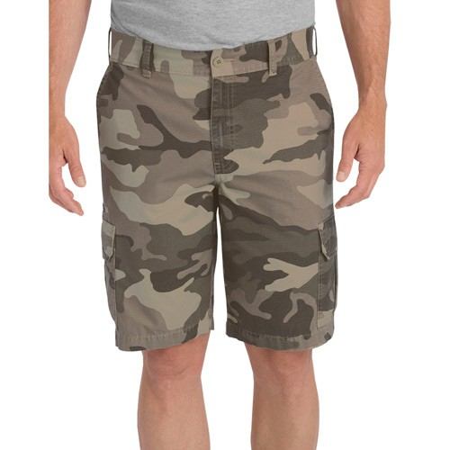 【DICKIES】WR351 11吋 Lightweight 中低腰直筒六袋抗撕裂 工作短褲 (SBOC卡其迷彩)