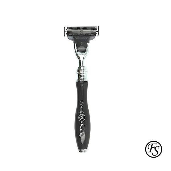 GOODFORIT / Frank Shaving Elegancy Mach3 Razor流線造型刮鬍刀-霧黑