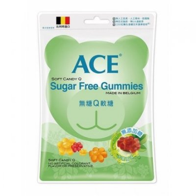 ACE無糖.水果.酸熊.字母軟糖 240g ( 比利時進口 ) ( 現貨 )