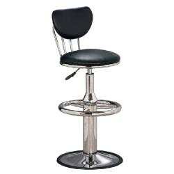 傢俱屋 奇圓電金圓盤吧台椅 黑 綠 藍 咖啡 高