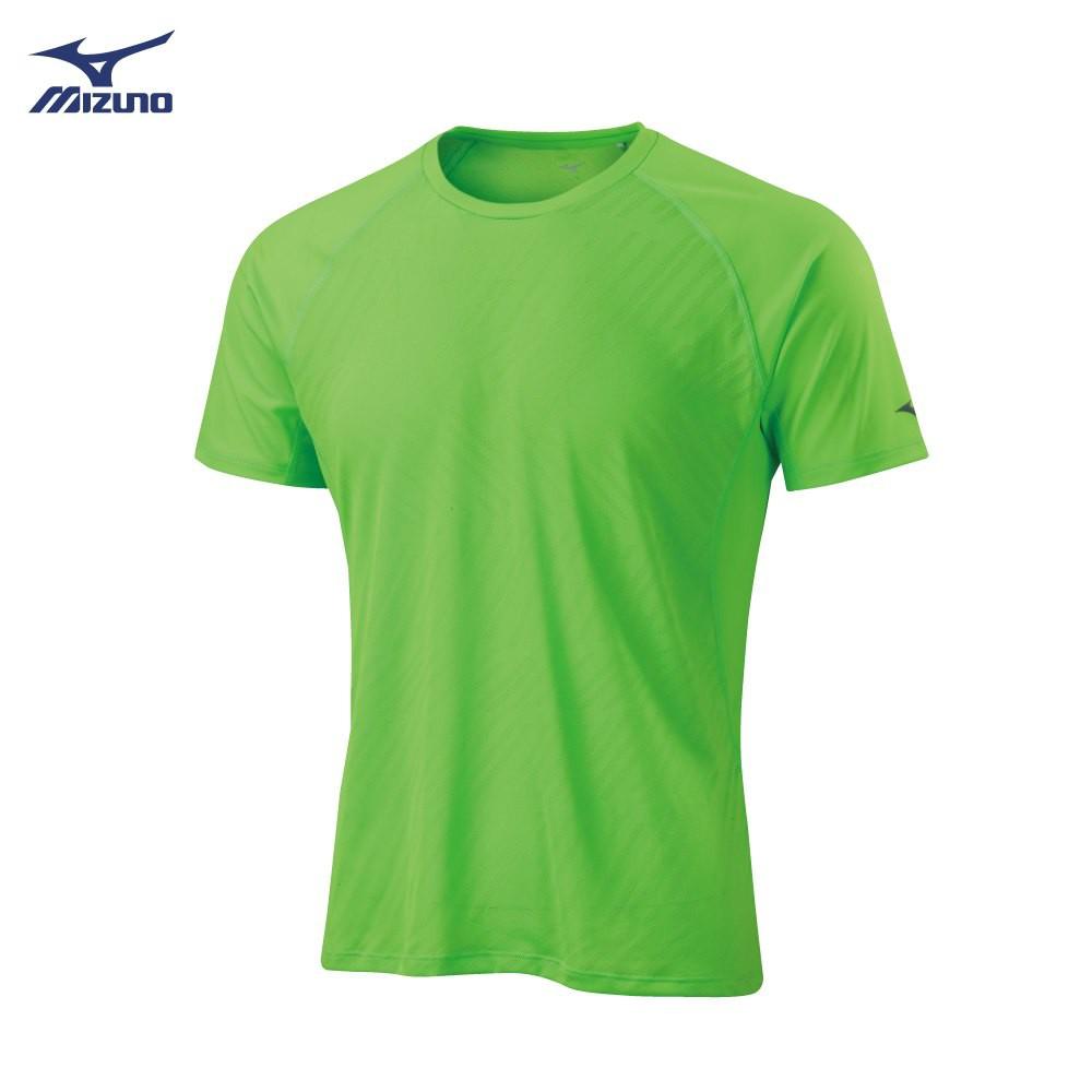 美津濃 MIZUNO 款路跑短袖T恤 J2MA901537(綠)