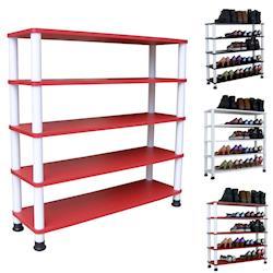 【Dr. DIY】寬80公分-五層[寬型]鞋架/鞋櫃/置物架(三色可選)
