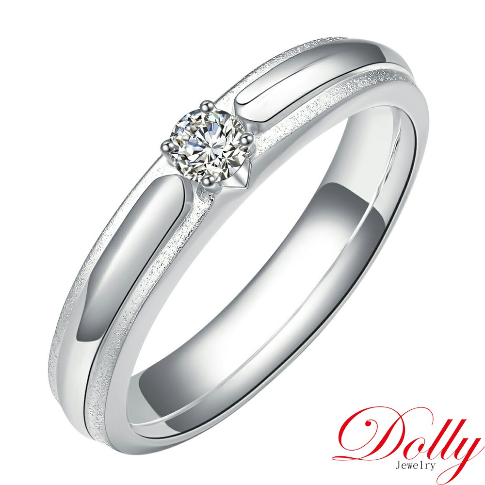 Dolly 求婚戒 0.10克拉完美車工 18K金鑽戒-004