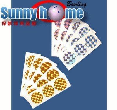 Sunny Home保齡球用品館- 保齡球專用球花《金色、銀色、白色、黃色》15個圈圈
