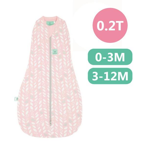 ergoPouch 二合一有機舒眠包巾0.2T(夏季款)(0-3M/3-12M)懶人包巾-甜苗粉【麗兒采家】