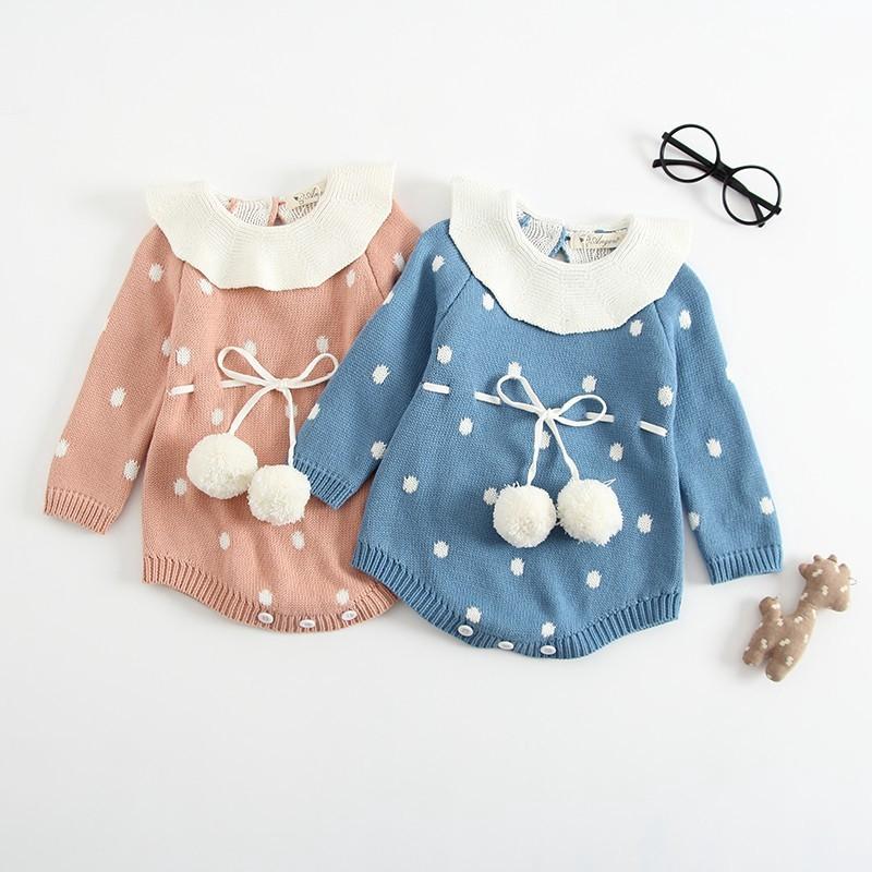 剛出生的嬰兒女孩衣服長袖連身褲【IU貝嬰屋】