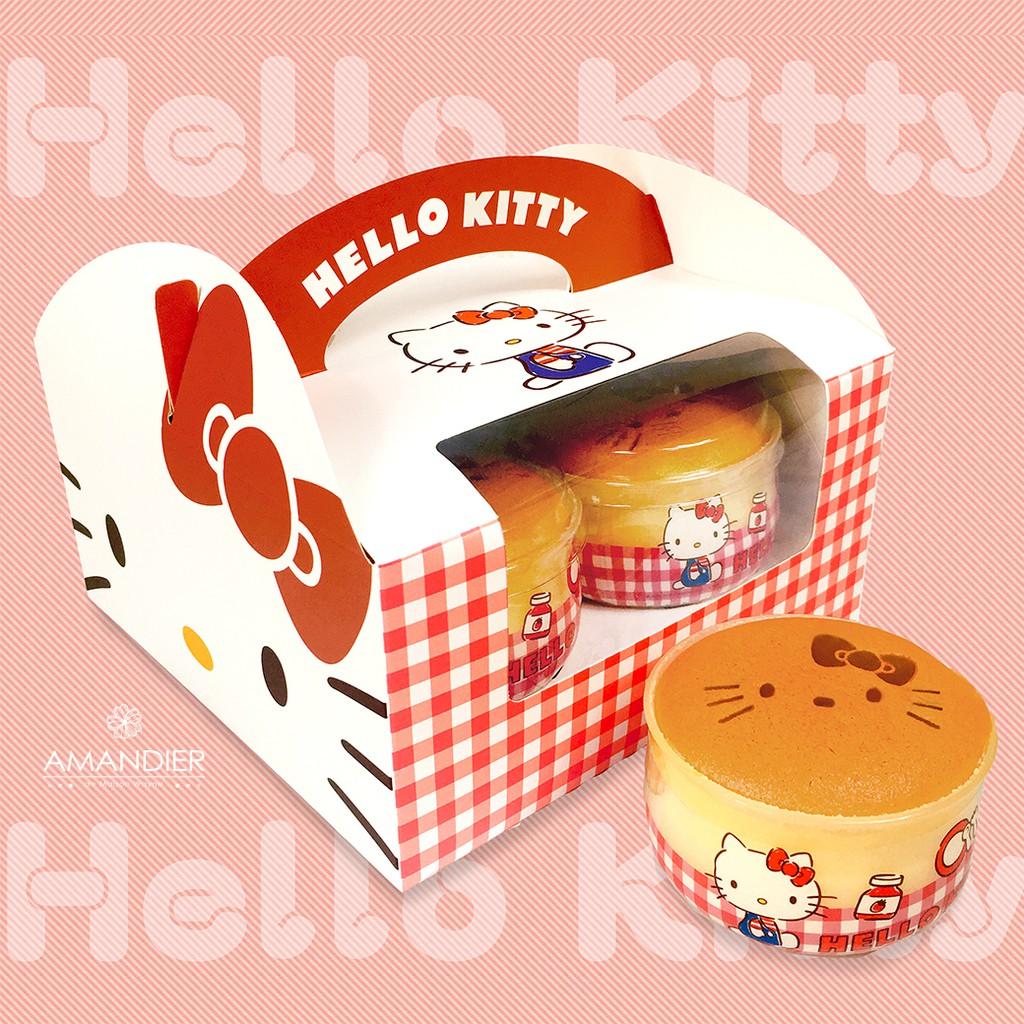 【雅蒙蒂文創烘焙禮品】Hello Kitty牛奶布丁燒-4入