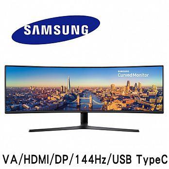 SAMSUNG三星 C49J890DKE 49型 VA曲面 144Hz更新率 稱霸全視界電競螢幕
