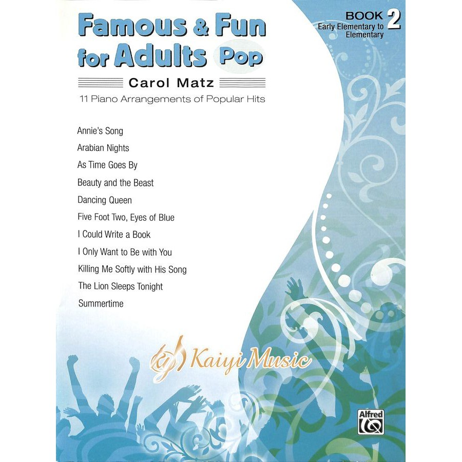 【Kaiyi Music】Famous&fun for Adults pop book 2