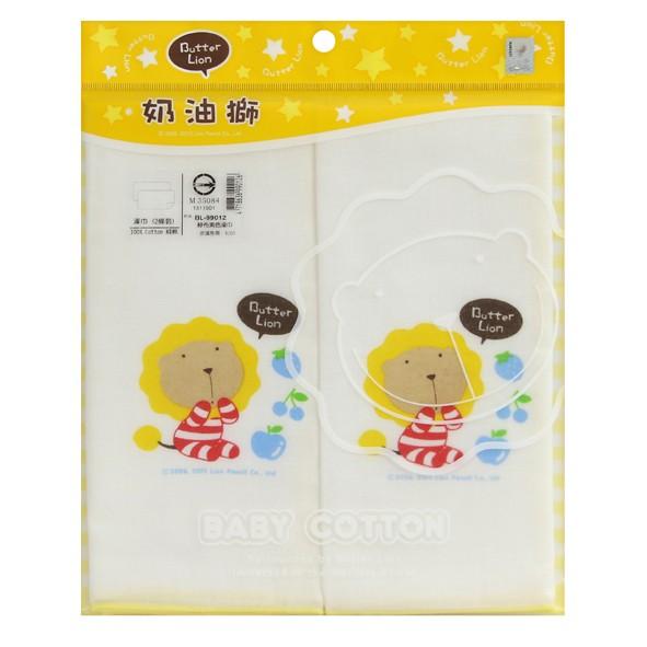奶油獅 紗布素色印花澡巾(2入)