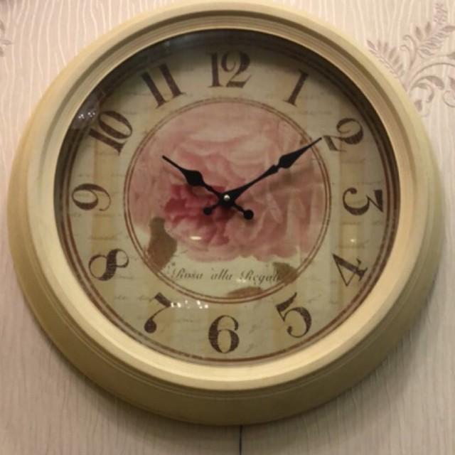 《齊洛瓦鄉村風雜貨》鐵製玫瑰掛鐘