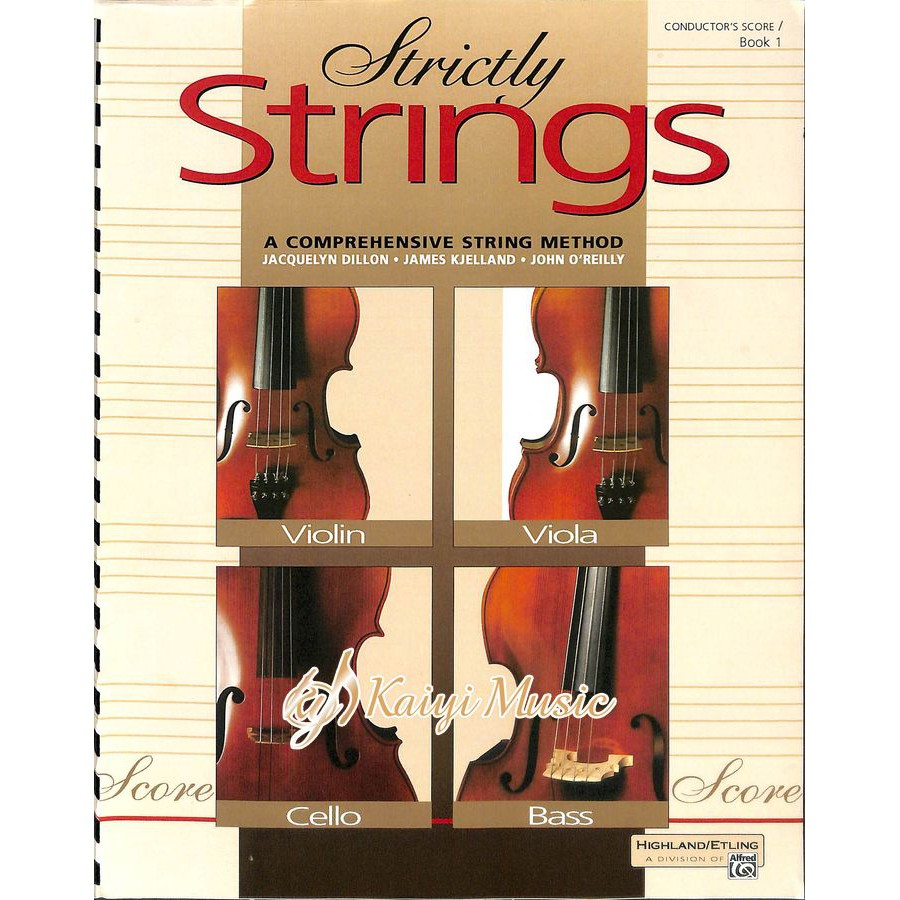 【Kaiyi Music】Strictly Strings conductor's score book 1