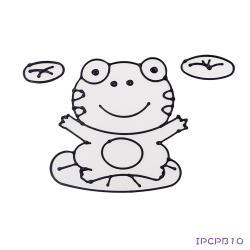 【愛玩色創意館】 MIT兒童無毒彩繪玻璃貼- 大張圖卡 - 青蛙 ipcpb10-台灣製