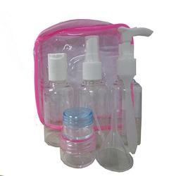 7件式噴壓瓶旅行沐浴盥洗套組