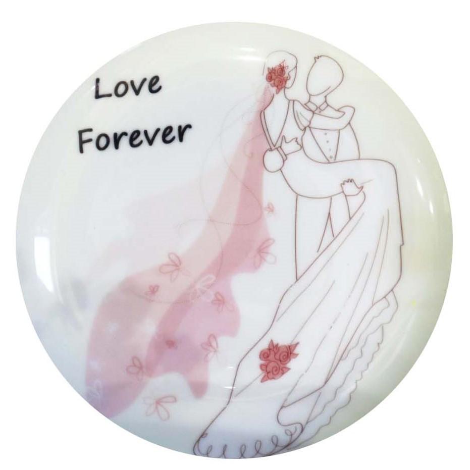 客製化婚禮小物浪漫小語(公主抱)骨瓷盤贈鐵架 量多價格優惠