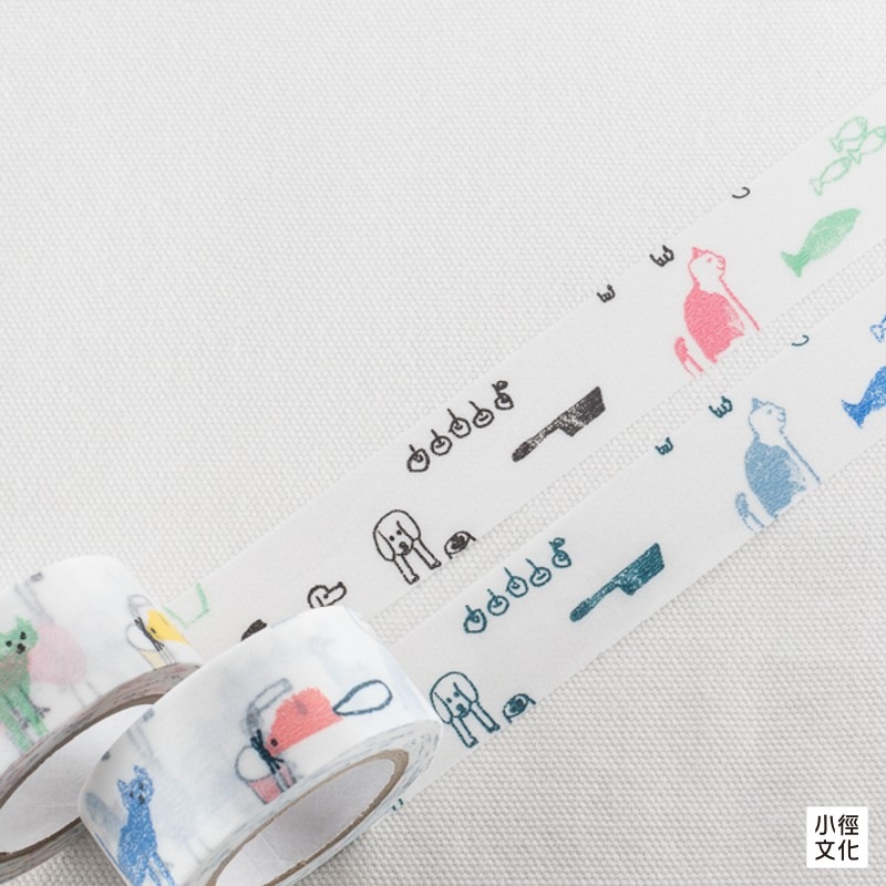 【倉敷意匠計劃室】日本進口 中西直子 系列和紙膠帶 - 記憶中的小戀人C+D,2入(99216-02 )
