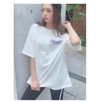 SPIGA バックロゴプリントTシャツ シロ