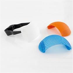 標準通用型Canon Nikon PENTAX橘藍白三色內閃柔光罩