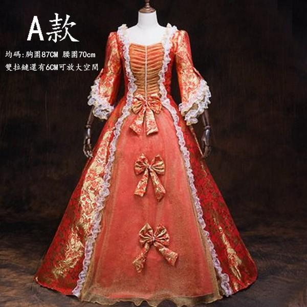 5Cgo宮廷服表演服歐式宮廷英國女皇服公主服禮服主題服裝影樓裙子三圈裙撐帽子套裝均碼雙拉鏈款女592632858860