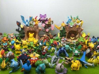福袋 正品 寶可夢 Pokemon Go 寵物小精靈神奇寶貝口袋妖怪玩具模型公仔怪獸套裝中號 隨機50隻不重覆