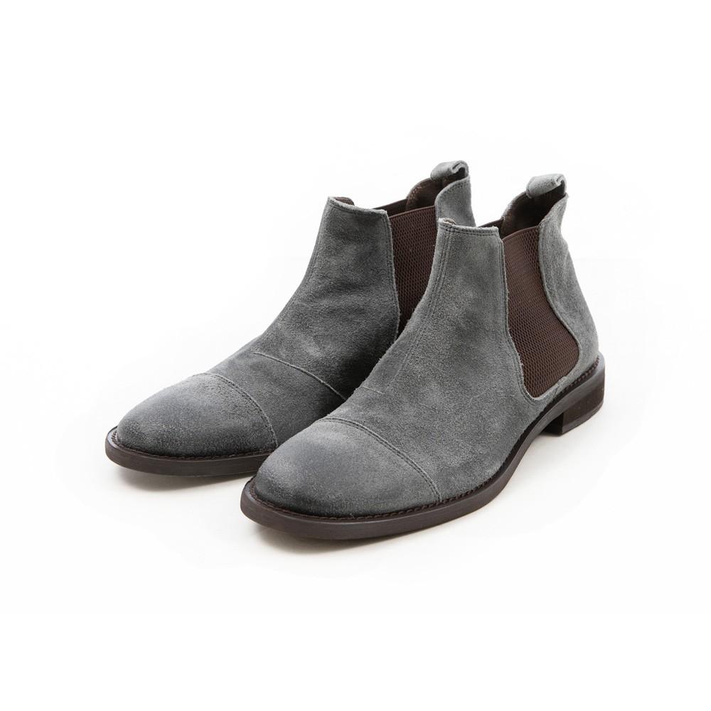 ARGIS 日本簡約橫式卻爾喜靴 【62203霧灰】日本手工製