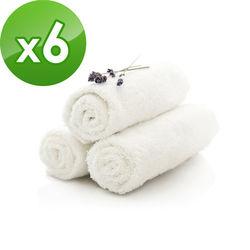 【花季】典雅風情-純白五星飯店級大浴巾x6件組(133x68cm/375g)