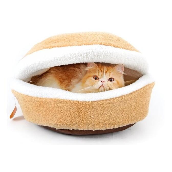 BANG 銅鑼燒貓窩 高品質厚實羊羔絨 可拆 狗窩 狗床 漢堡 貓窩 銅鑼燒 喵星人寵物窩【HH15】